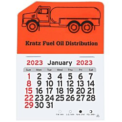 View a larger, more detailed picture of the Peel-n-Stick Calendar - Propane Truck