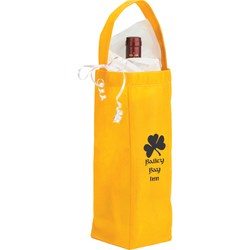 View a larger, more detailed picture of the Non-woven Bottle Tote - Closeout