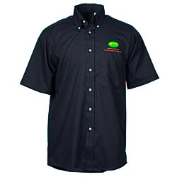 View a larger, more detailed picture of the Soil Release Button Down SS Poplin Shirt - Men s
