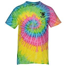 View a larger, more detailed picture of the Tie-Dye T-Shirt - Two-Tone Spiral