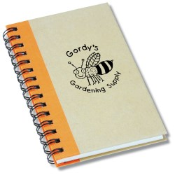 View a larger, more detailed picture of the Mini Recycled Color Spine Notebook - Closeout