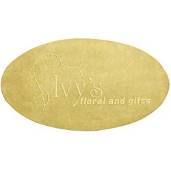 View a larger, more detailed picture of the Embossed Seal by the Roll - Oval - 1-1 4 x 2-1 4