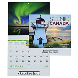 View a larger, more detailed picture of the Scenic Canada Calendar - Stapled
