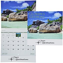View a larger, more detailed picture of the Glorious Getaways Calendar - Stapled