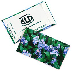 View a larger, more detailed picture of the Business Card Seed Packet - Blue Forget Me Not