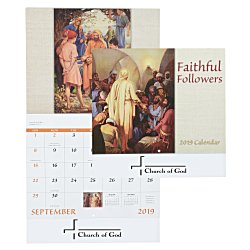 View a larger, more detailed picture of the Faithful Followers Calendar - Stapled