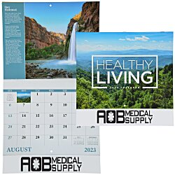 View a larger, more detailed picture of the Healthy Living Calendar - Stapled