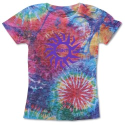 View a larger, more detailed picture of the Blue 84 Juniors Burnout Sublimated Tee - Color Burst