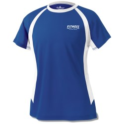 View a larger, more detailed picture of the Anti-Microbial Color Block Wicking Tee - Ladies - Screen