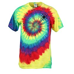 View a larger, more detailed picture of the Tie-Dye T-Shirt - Multi-Color Spiral - Screen