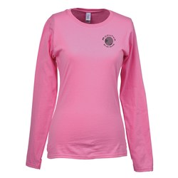 View a larger, more detailed picture of the Gildan SoftStyle LS T-Shirt - Ladies - Screen - Colors