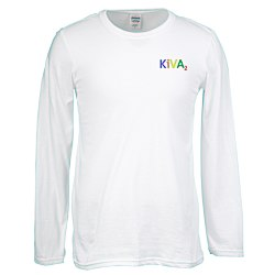 View a larger, more detailed picture of the Gildan SoftStyle LS T-Shirt - Men s - Emb - White