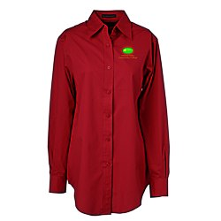 View a larger, more detailed picture of the Ultra Club Performance Poplin Shirt - Ladies