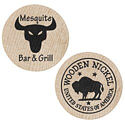 View a larger, more detailed picture of the Wooden Nickels - Buffalo