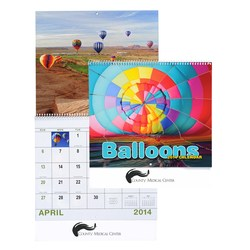 View a larger, more detailed picture of the Balloons Calendar - Spiral