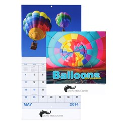 View a larger, more detailed picture of the Balloons Calendar - Stapled
