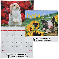 View a larger, more detailed picture of the Baby Farm Animals Calendar - Spiral