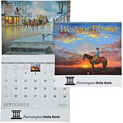 View a larger, more detailed picture of the Western Frontier Calendar - Spiral
