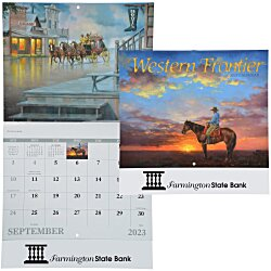 View a larger, more detailed picture of the Western Frontier Calendar - Stapled