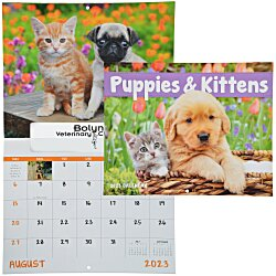 View a larger, more detailed picture of the Puppies & Kittens Appointment Calendar - Window