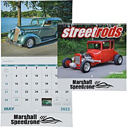 View a larger, more detailed picture of the Street Rods Calendar - Spiral