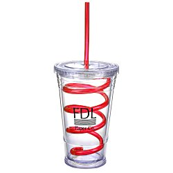 View a larger, more detailed picture of the Slurpy Tumbler with Crazy Straw - 16 oz