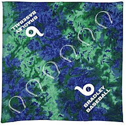 View a larger, more detailed picture of the Tie Dye Bandanna