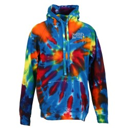 View a larger, more detailed picture of the Tie-Dye Hoodie - Multicolor Cut-Spiral