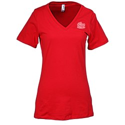 View a larger, more detailed picture of the Bella Missy Fit V-Neck T-Shirt - Screen