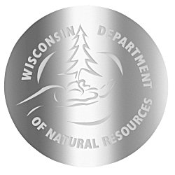View a larger, more detailed picture of the Embossed Seal by the Roll - Circle - Smooth Edge - 2