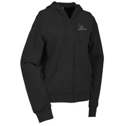 View a larger, more detailed picture of the Bella Raglan Full Zip Hooded Sweatshirt - Ladies