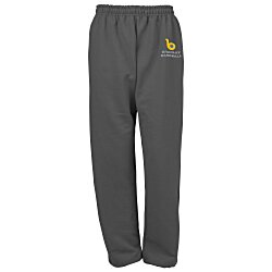 View a larger, more detailed picture of the Gildan 50 50 Open Bottom Sweatpants - Embroidered