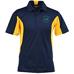View a larger, more detailed picture of the Side Blocked Micropique Sport-Wick Polo - Men s