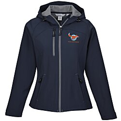 View a larger, more detailed picture of the North End Hooded Soft Shell Jacket - Ladies 