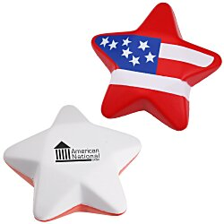 View a larger, more detailed picture of the Patriotic Star Stress Reliever