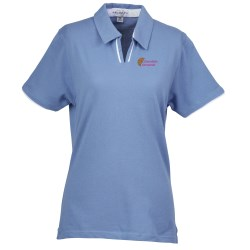 View a larger, more detailed picture of the Velocity Piped Placket Polo - Ladies