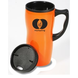 View a larger, more detailed picture of the Ceramic Style Mug - 16 oz - Closeout