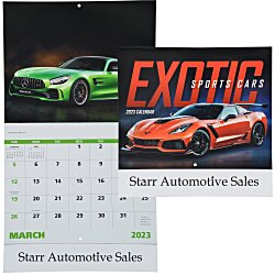 View a larger, more detailed picture of the Exotic Sports Cars Calendar - Stapled