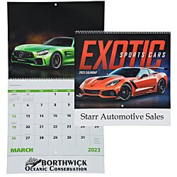View a larger, more detailed picture of the Exotic Sports Cars Calendar - Spiral