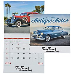 View a larger, more detailed picture of the Antique Autos Calendar - Stapled