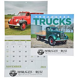 View a larger, more detailed picture of the Treasured Trucks Calendar - Stapled