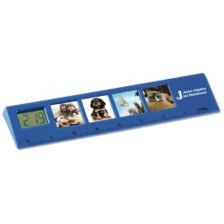 View a larger, more detailed picture of the Picture Frame Ruler with Clock