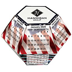 View a larger, more detailed picture of the Pop Up Calendar - USA Flag