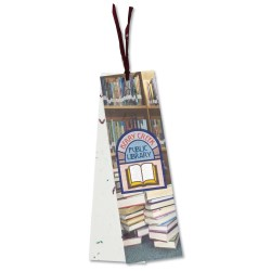 View a larger, more detailed picture of the Seeded Message Bookmark - Cosmos