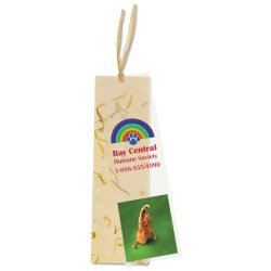 View a larger, more detailed picture of the Seeded Message Bookmark - Marigold