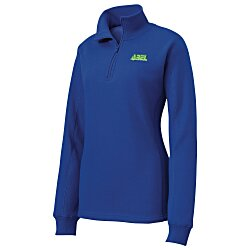 View a larger, more detailed picture of the Feminine Fit 1 4 Zip Sweatshirt - Ladies