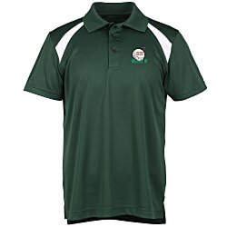 View a larger, more detailed picture of the Harriton Polytech Color Block Polo - Men s