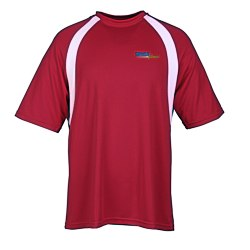 View a larger, more detailed picture of the Harriton Athletic Sport Color Block T-Shirt