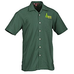 View a larger, more detailed picture of the Harriton Barbados Textured Camp Shirt - Men s