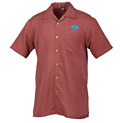 View a larger, more detailed picture of the Harriton Bahama Cord Camp Shirt - Men s